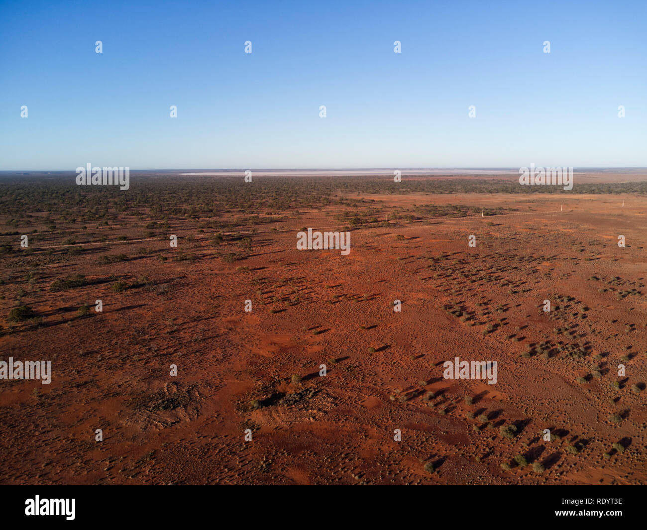 Aerial of the arid desert environment of South Australia - Stock Image