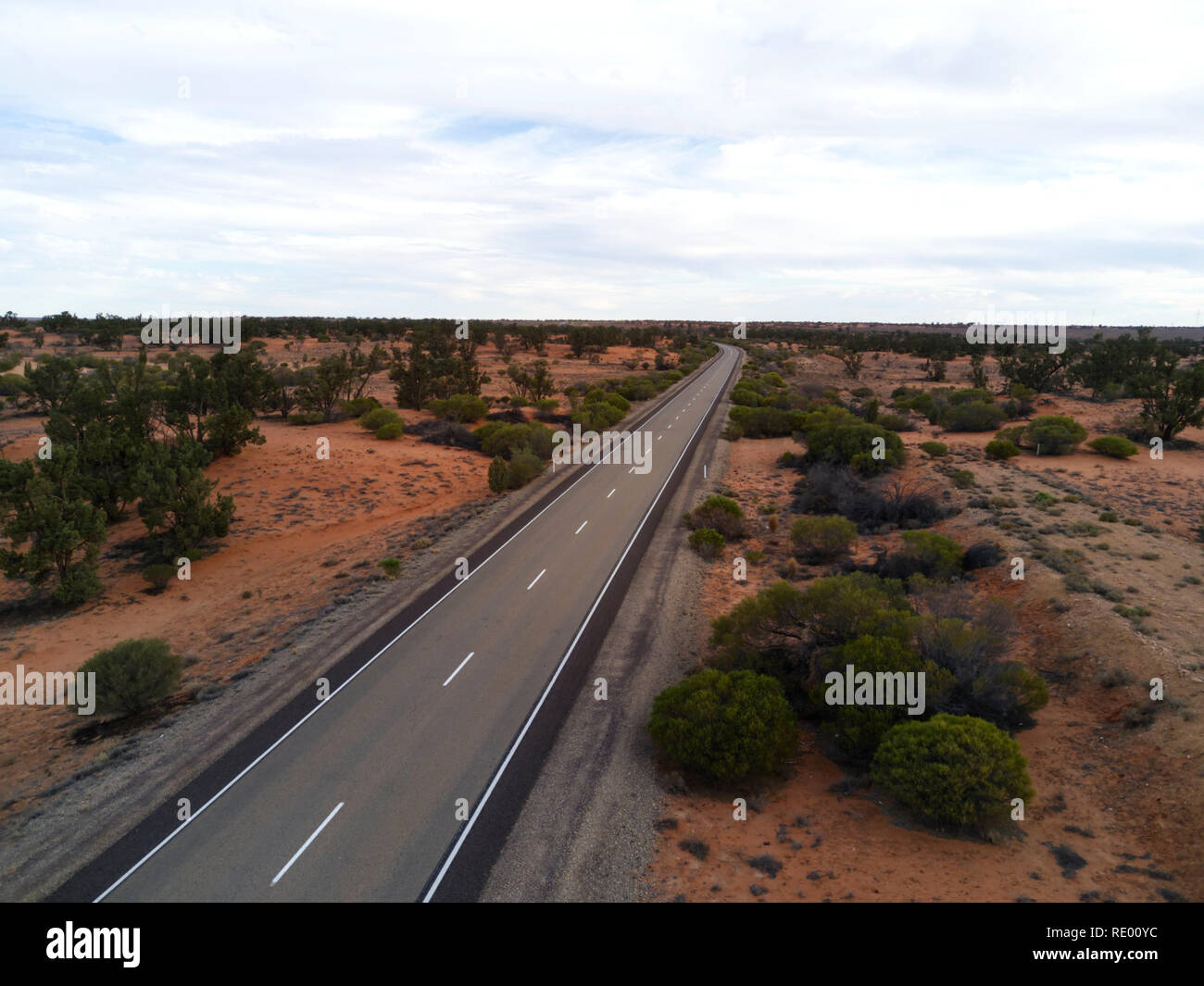 Sand Hill country near Roxby Downs South Australia - Stock Image
