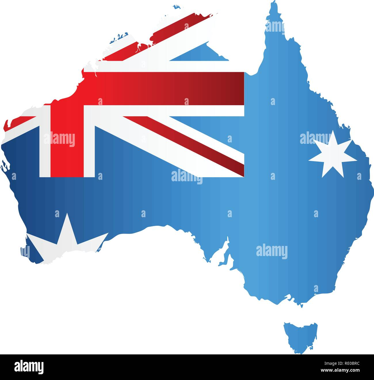 Australia Map With Flag.Australia Map Flag Inside Stock Photos Australia Map Flag Inside