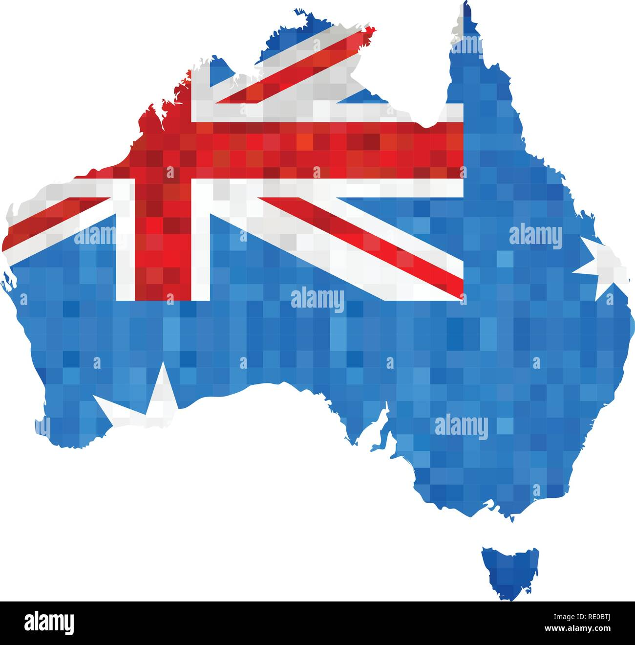 Australia Map And Flag.Grunge Australia Map With Flag Inside Illustration Abstract