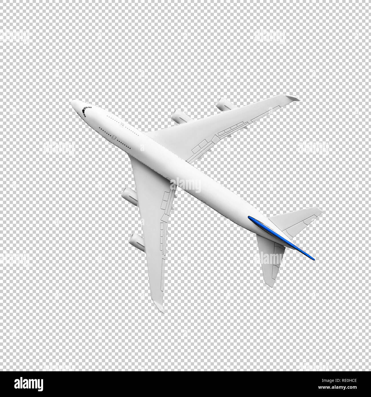 Model plane,airplane in white color mock up.clipping path - Stock Image