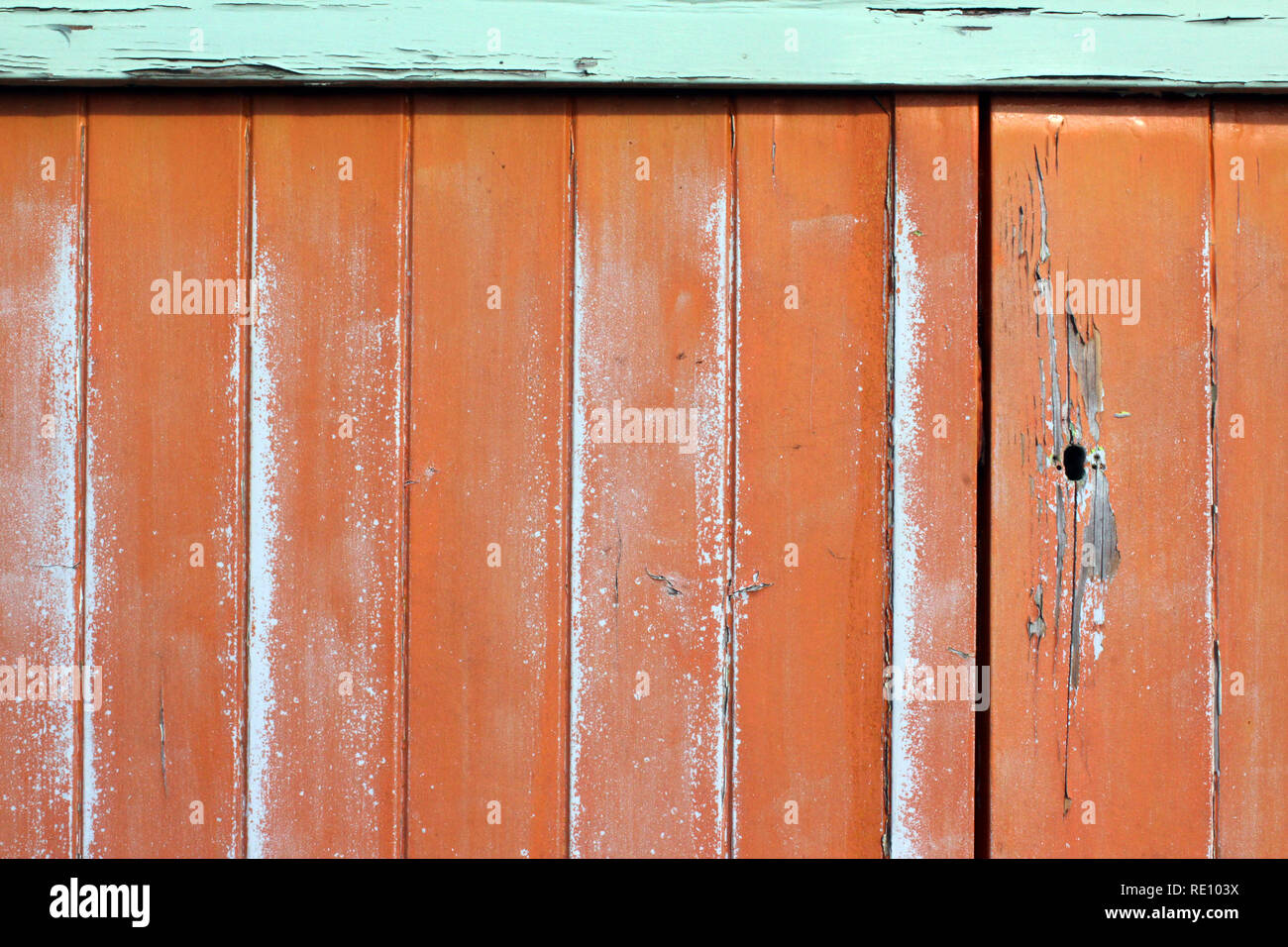 Colorful wooden hut Brighton, England, close-up Stock Photo