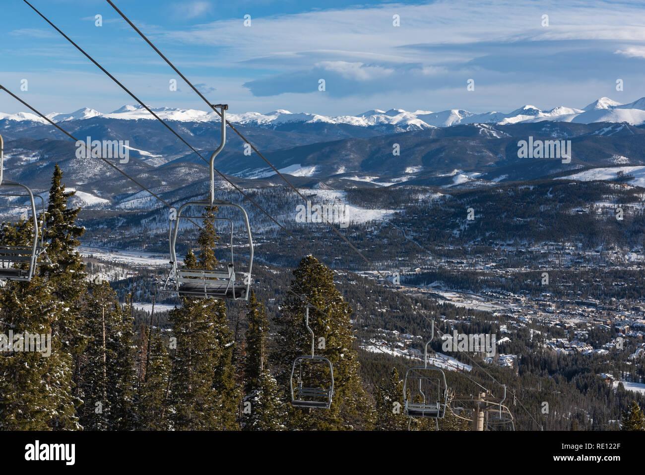 Breckenridge Peak 9 - Stock Image