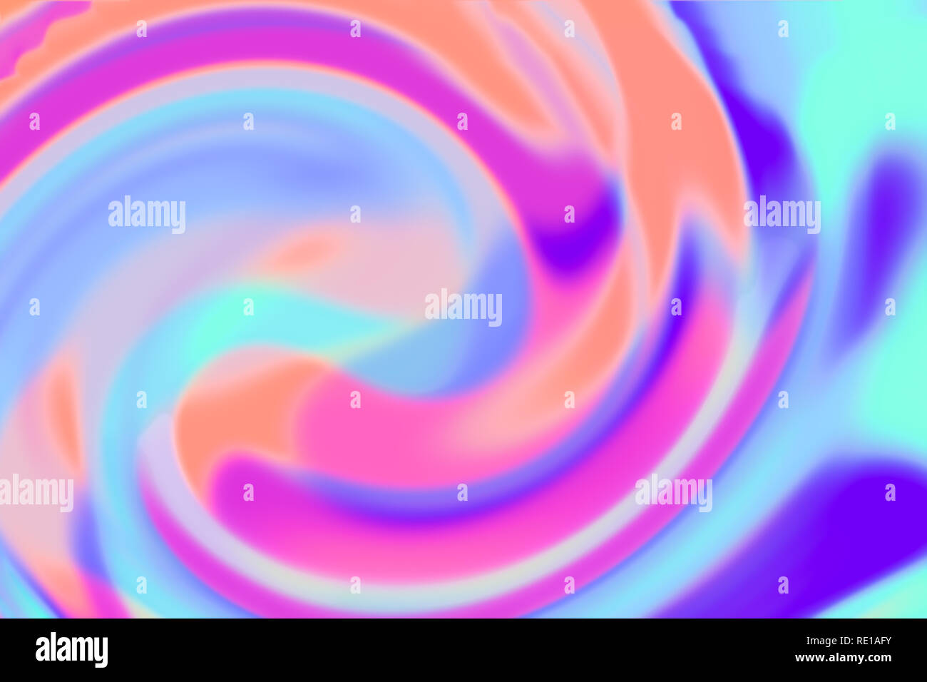 Defocused background of twisted smooth multicolored holographic paper. - Stock Image