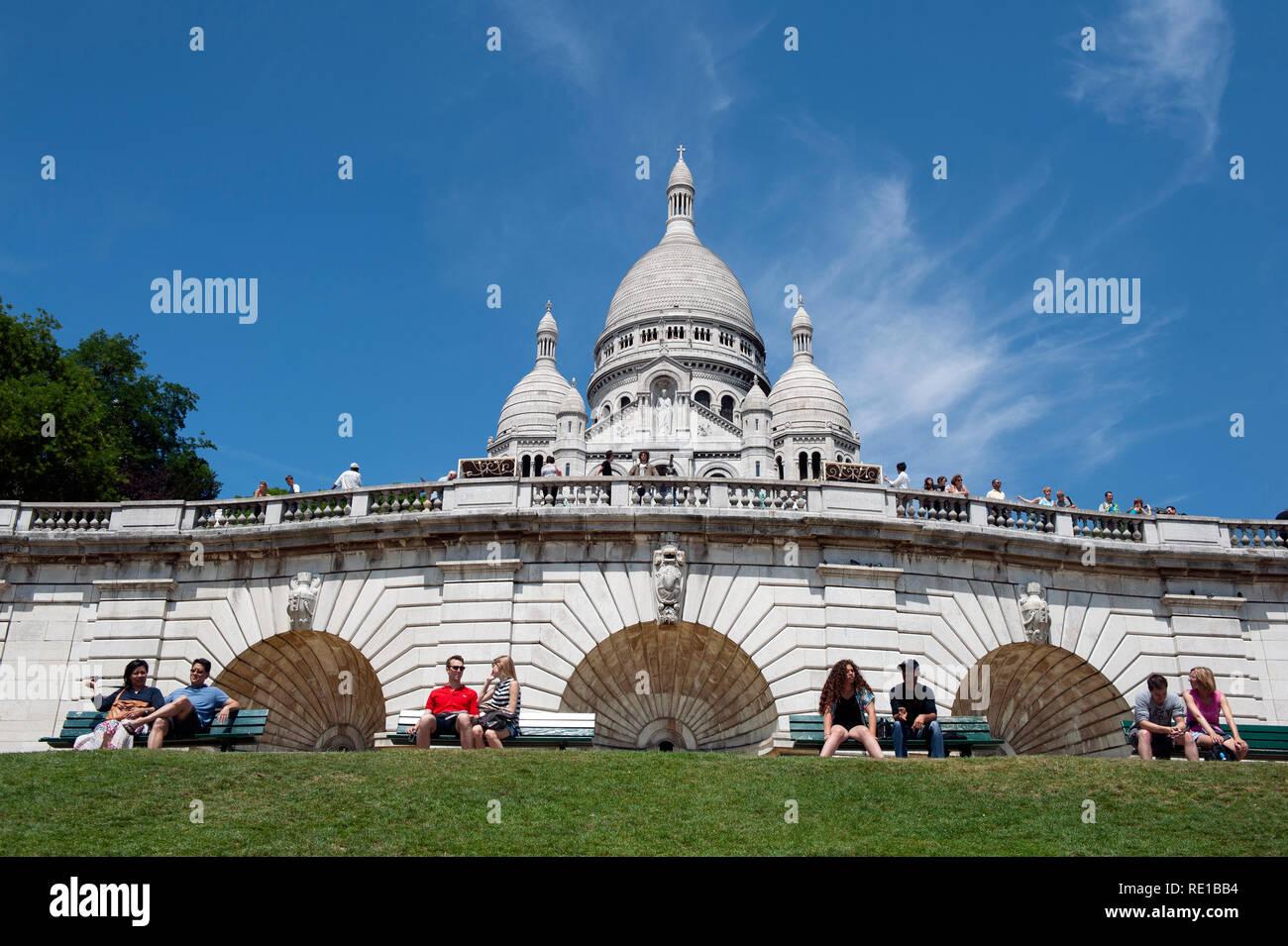 A general view of Sacre Coeur, Montmatre, Paris, France - Stock Image