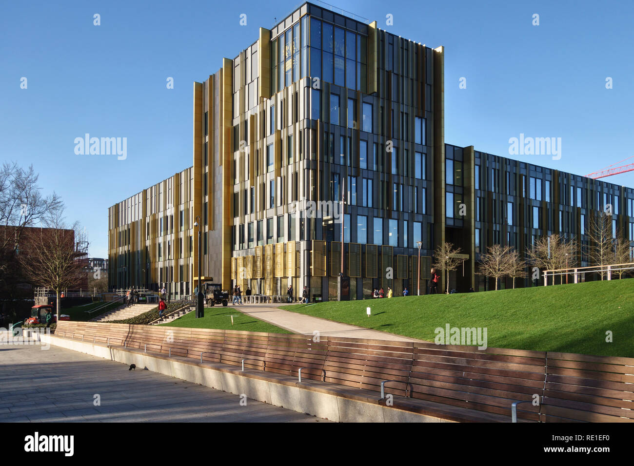 University of Birmingham, Edgbaston, UK. The new Main Library was designed by Associated Architects and opened in 2016 - Stock Image