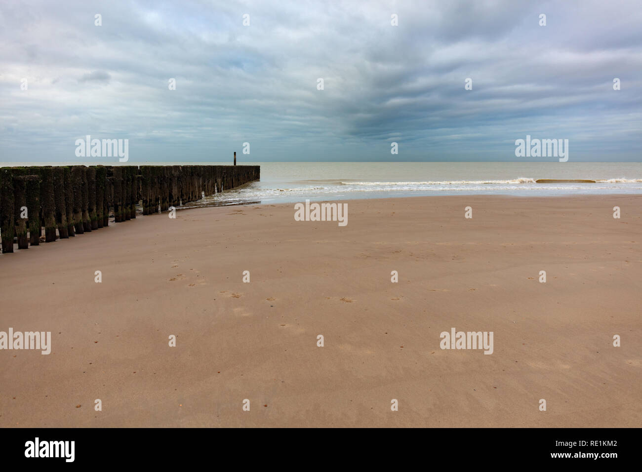 Beach at the Northsea, Netherlands Stock Photo
