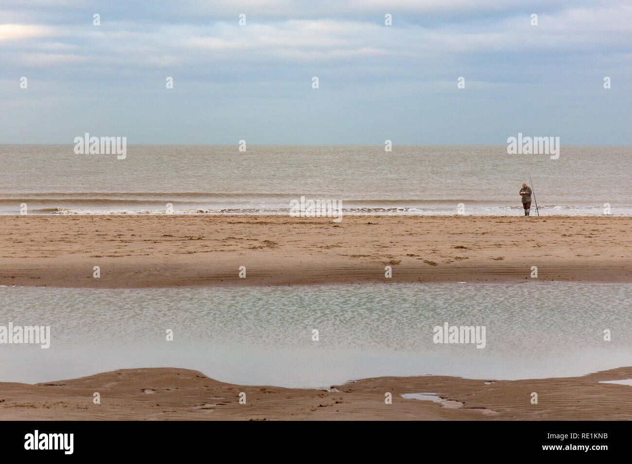 Beach at the Northsea, Netherlands - Stock Image
