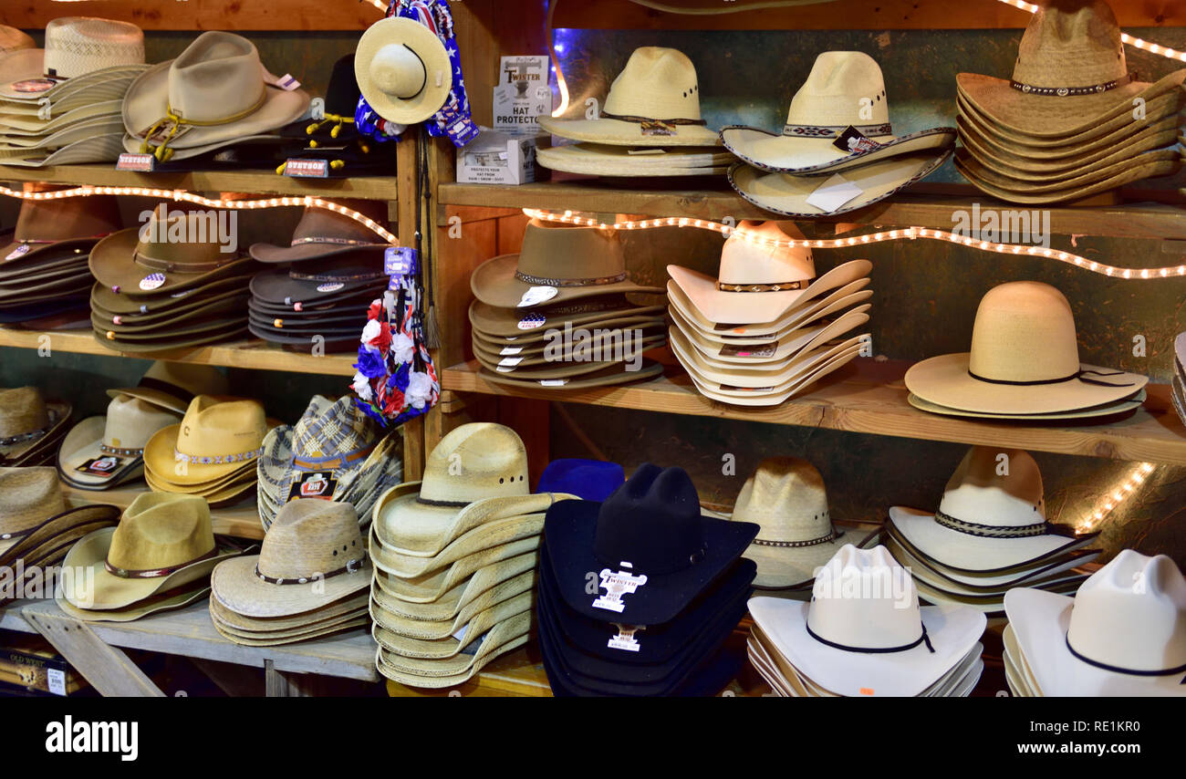 50cbc5df American western wide brim 'cowboy' style hats on display for sale in shop,