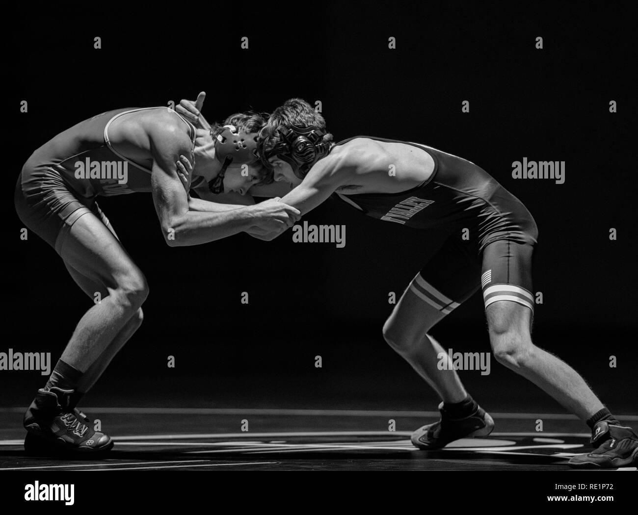 Wrestler Black and White Stock Photos & Images - Alamy