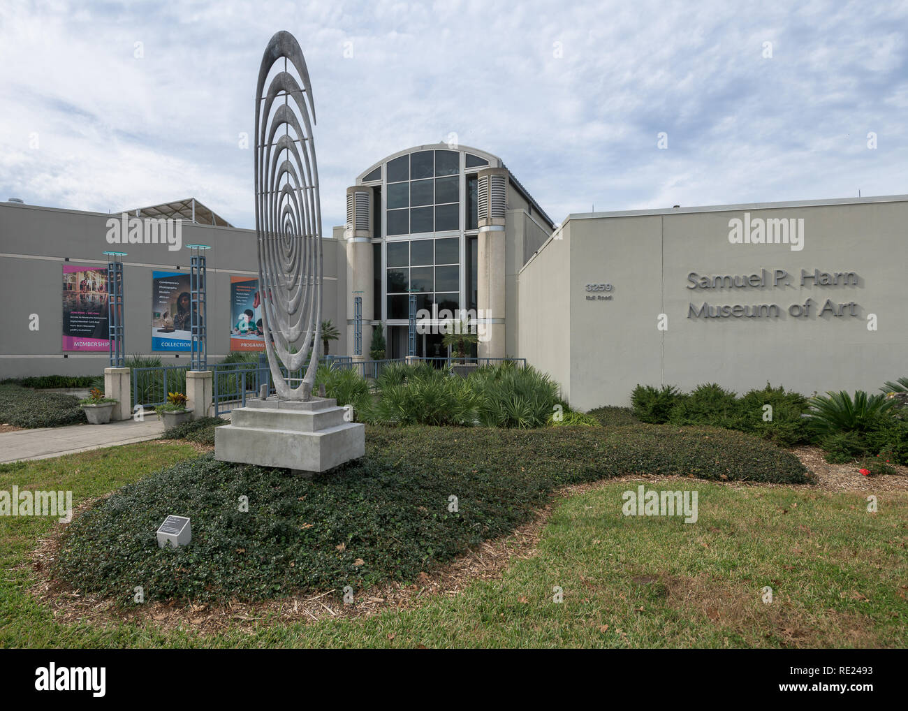 Samuel P. Harn Museum of Art on the campus of the University of Florida on Hull Road in Gainesville, Florida - Stock Image