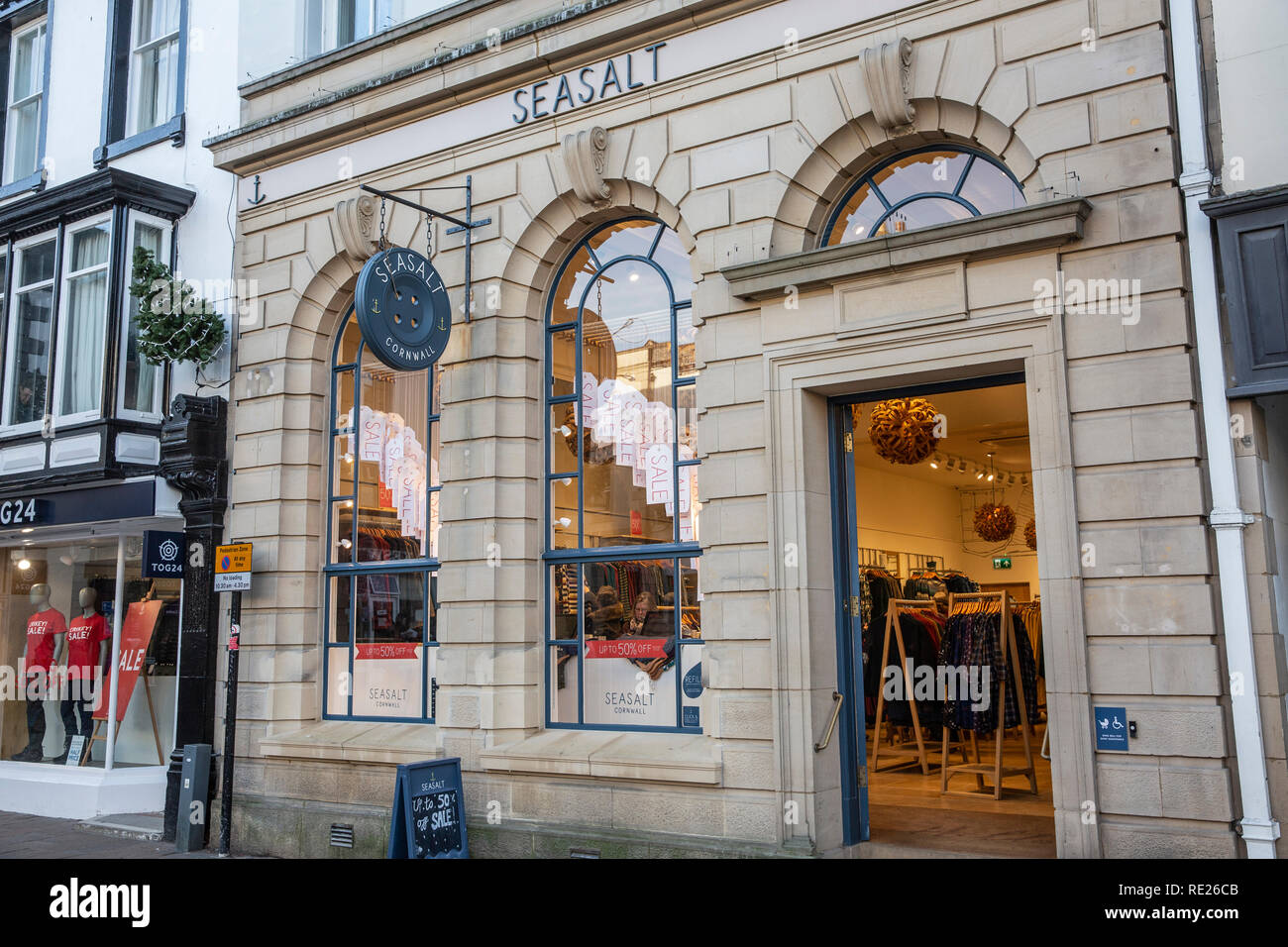Seasalt of Cornwall, company selling womens and ladies clothing, store shown here is in Keswick town centre,Lake District,England - Stock Image
