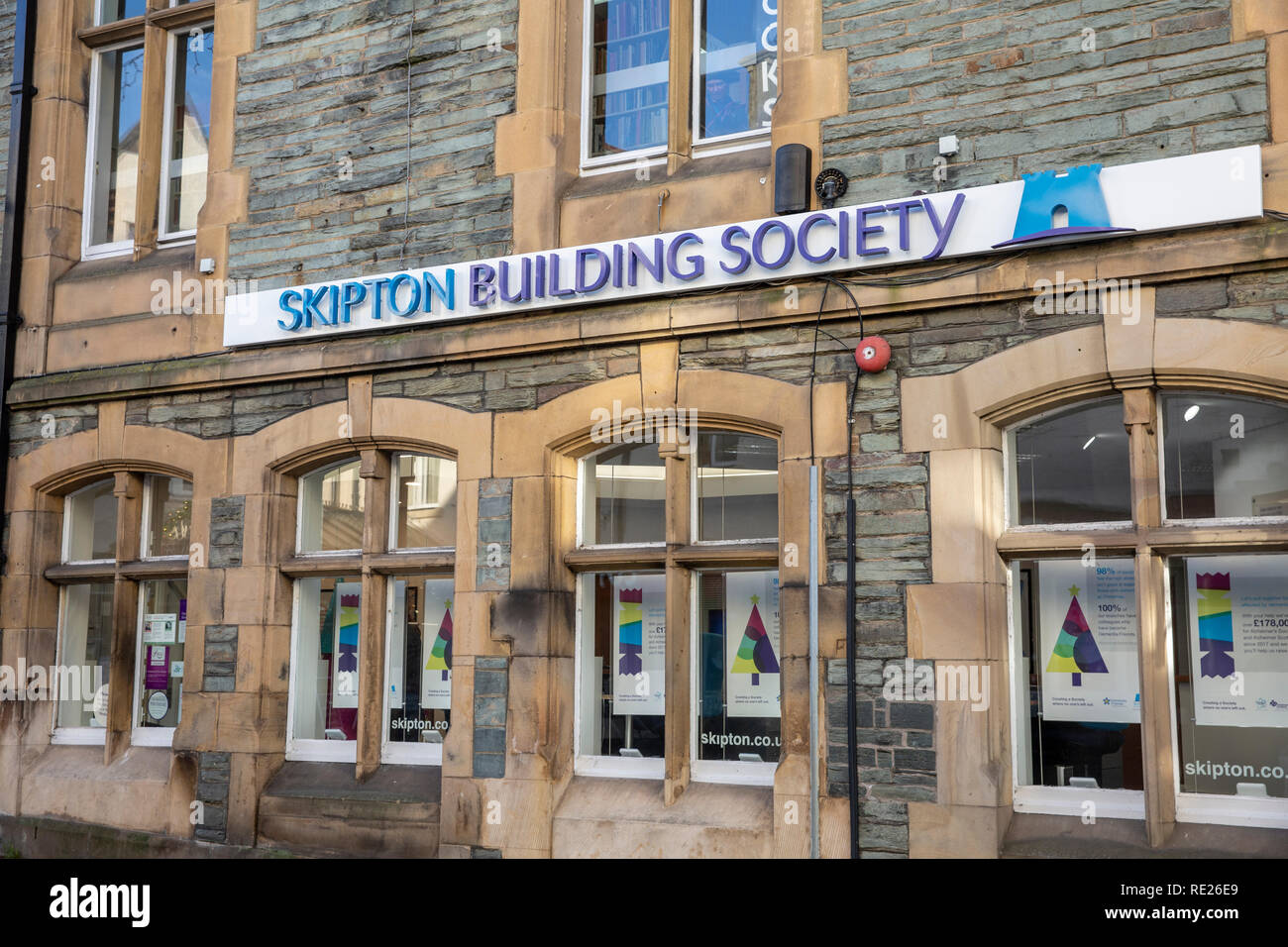 Skipton building society branch in Keswick town centre,Lake District,Cumbria,England - Stock Image