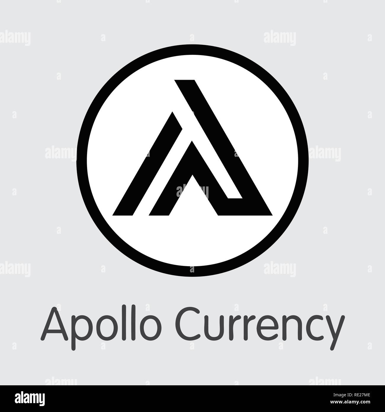 APL - Apollo Currency. The Logo of Money or Market Emblem. - Stock Vector