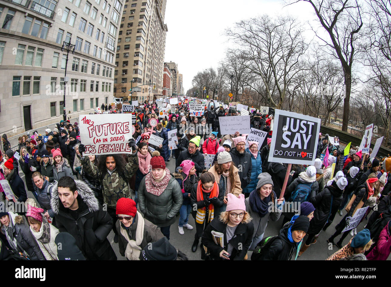 January 19th 2020 Events New York.New York New York Usa 19th Jan 2019 People Participate