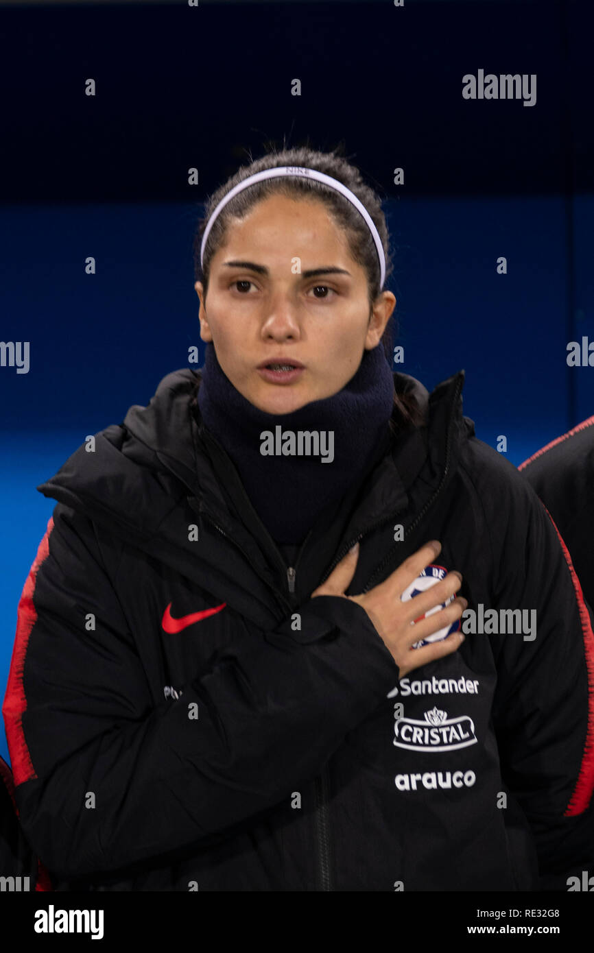 Barbara Santibanez (Chile) during the France 2019 Fifa Women's soccer World Cup qualifiers, friendly match match between Italy 2-1 Chile at Carlo Castellani Stadium on January 218, 2019 in Empoli, Italy. Credit: Maurizio Borsari/AFLO/Alamy Live News - Stock Image