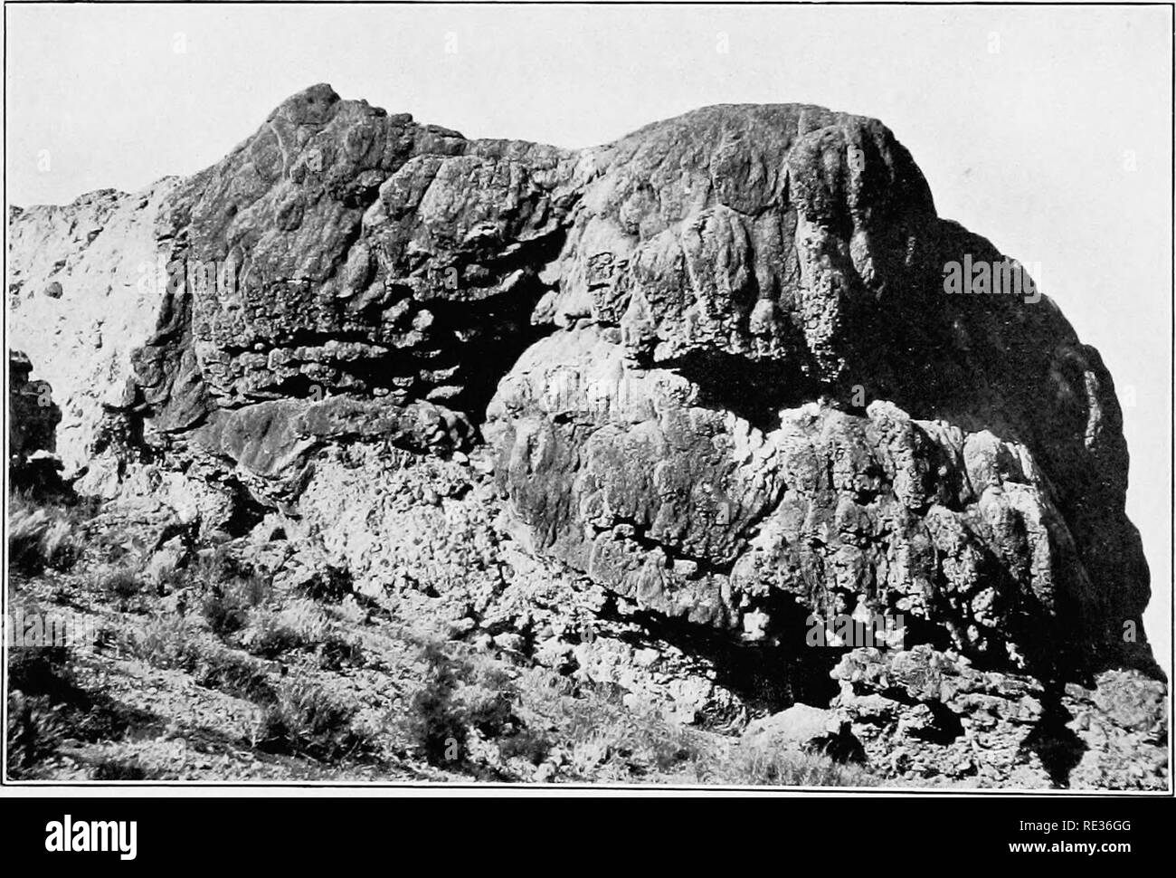 . Plant succession; an analysis of the development of vegetation. Plant ecology. A. Red rocks and gypsum ridge, indicating an arid climate in the Mesophytic era, Garden of the Gods, Manitou, Colorado.. B. Travertine cliff at the margin of an old lake basin, Hazen, Nevada.. Please note that these images are extracted from scanned page images that may have been digitally enhanced for readability - coloration and appearance of these illustrations may not perfectly resemble the original work.. Clements, Frederic E. (Frederic Edward), 1874-1945. Washington, Carnegie Institution of Washington - Stock Image