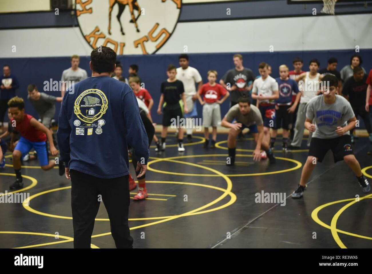 TACOMA, Wash  (Nov  18, 2016) All-Navy Wrestling head coach