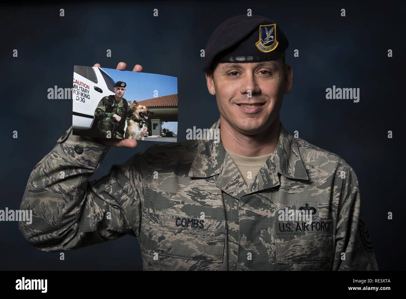 Tech. Sgt. Nathan Combs, 902nd Security Forces Squadron NCO in charge of resource protection, was diagnosed with testicular cancer in 2005 while serving as a military working dog handler at Joint Base San Antonio Randolph. Combs was notified in spring 2015 that he was considered cancer-free. Stock Photo