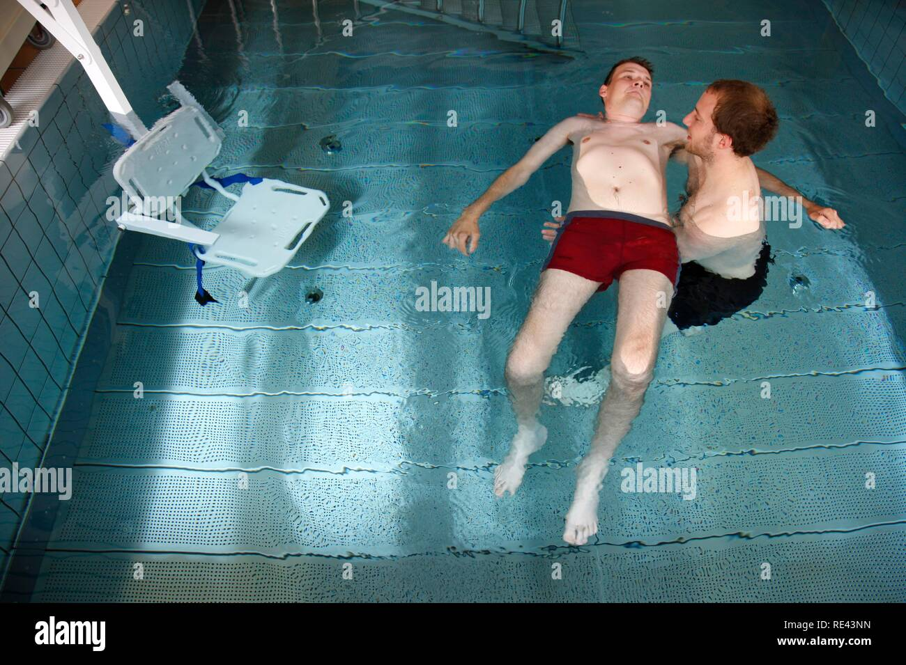 Individual Therapy In A Heated Pool Physical Therapy In A Neurological Rehabilitation Centre Bonn North Rhine Westphalia Stock Photo Alamy
