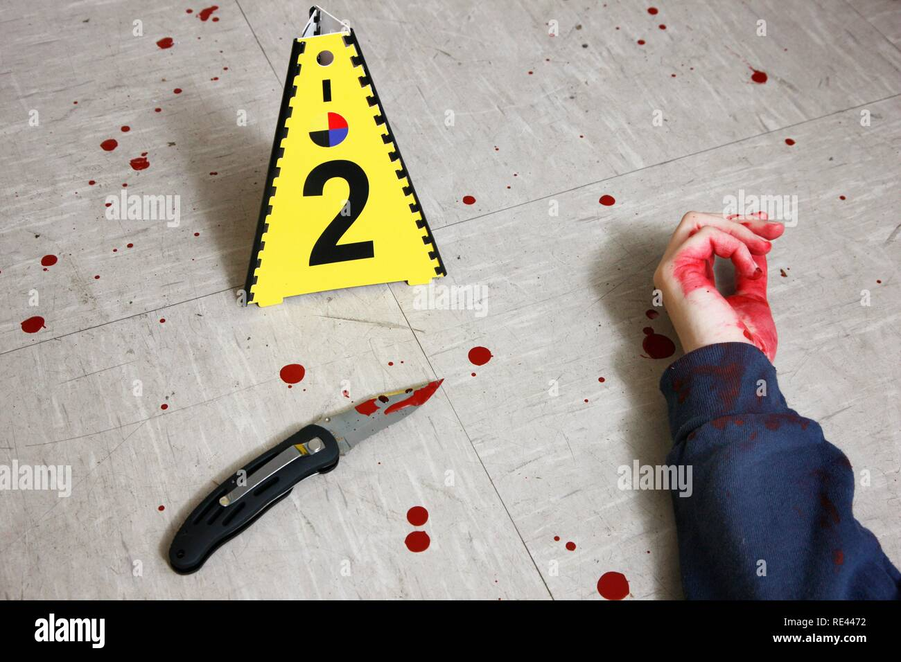 Securing Forensic Evidence At A Crime Scene After A Capital Offence Homicide By The C I D The Criminal Investigation Stock Photo Alamy