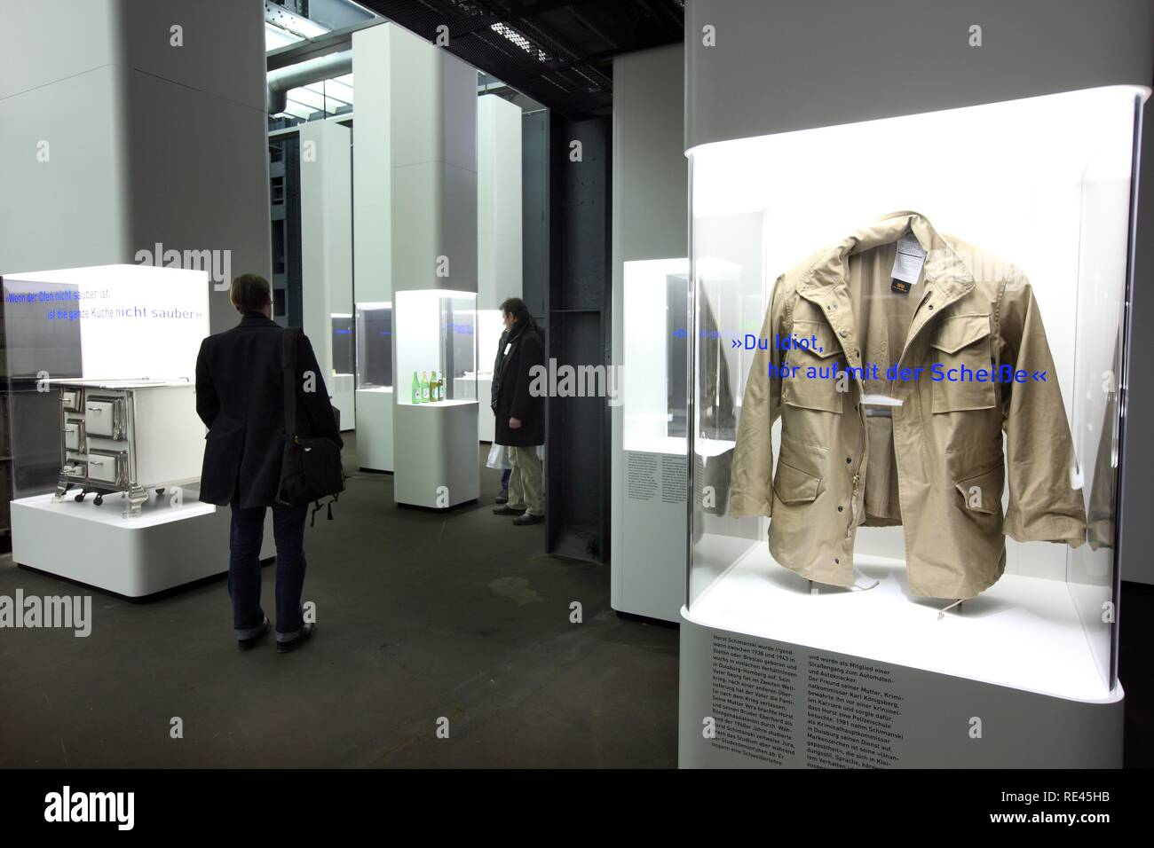 The jacket of the Tatort detective inspector Horst Schimanski, Schimi, in the new Ruhrmuseum museum, opened in January 2010, - Stock Image