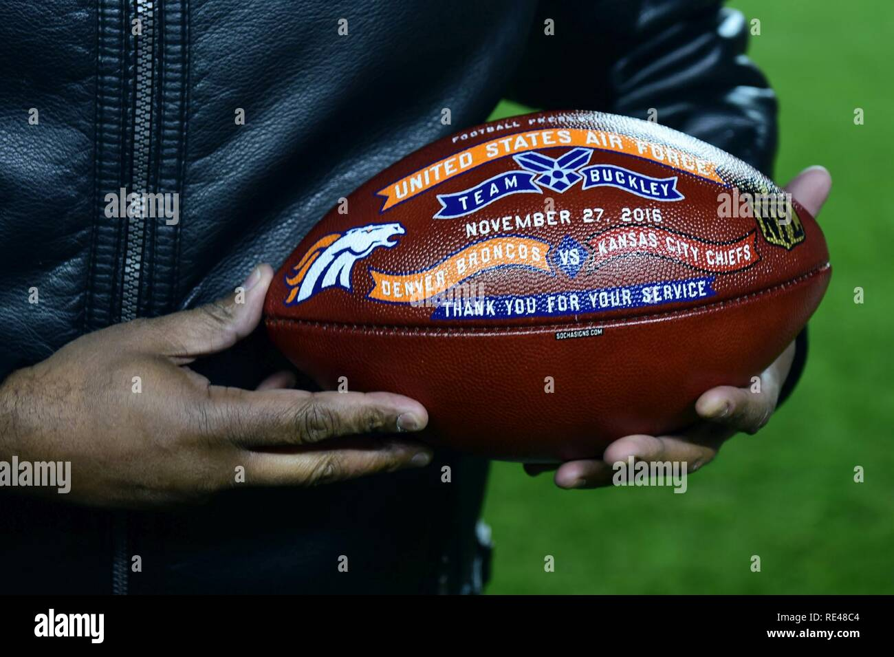 best cheap 30d2f 16782 The Denver Broncos held a Salute to Service football game ...