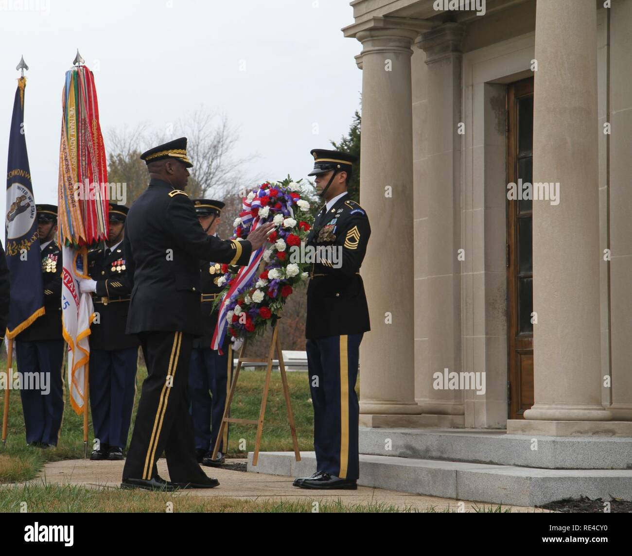 Michael Dillard Commanding General Of The 78th Training Division Lays