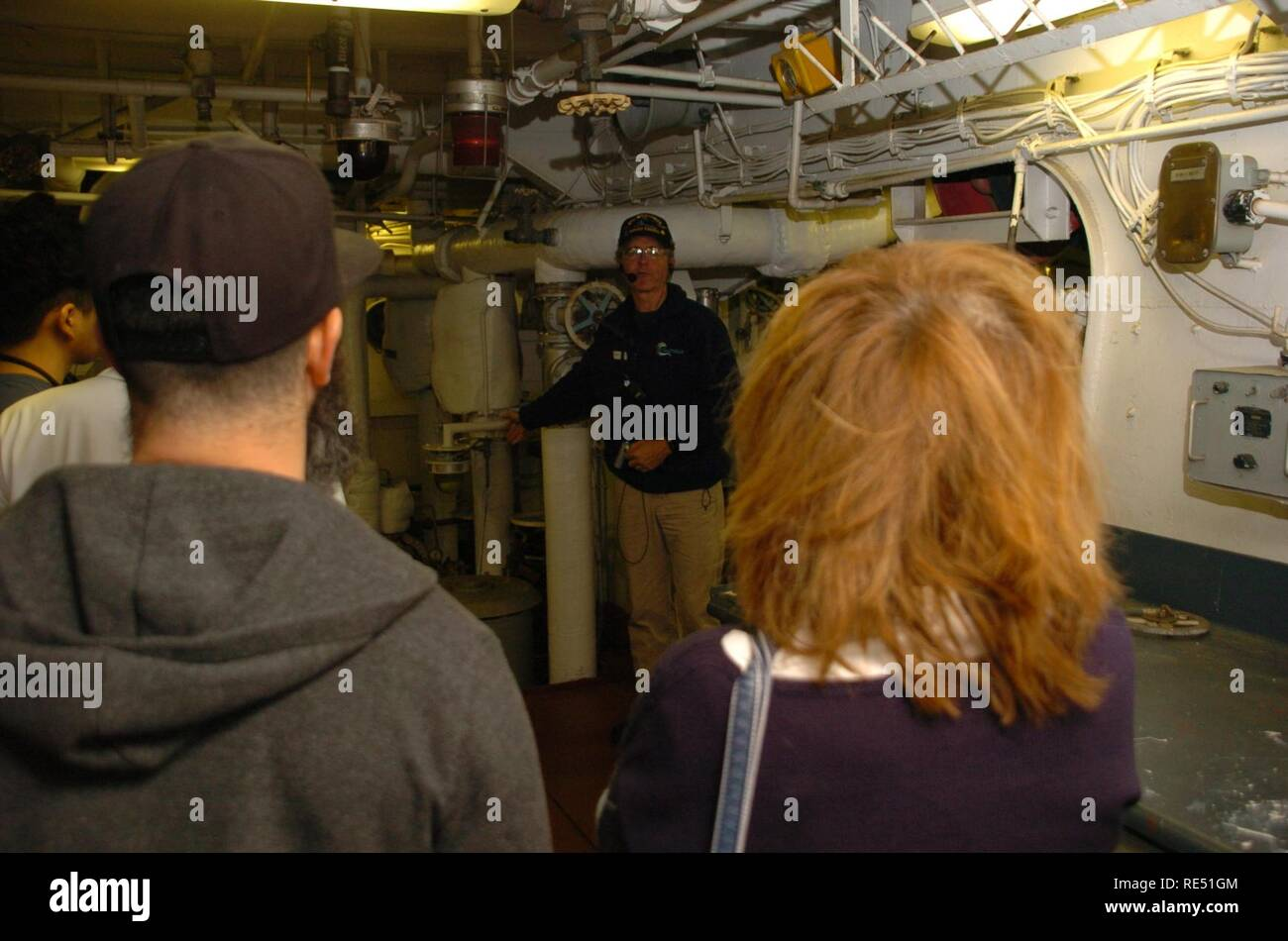 The first guided engine room tour aboard the USS Wisconsin