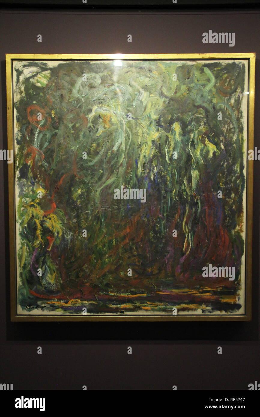 Le Saule pleureur (1920-22), Claude Monet, Musée d'Orsay, CCBB, São Paulo, Brazil - Stock Image