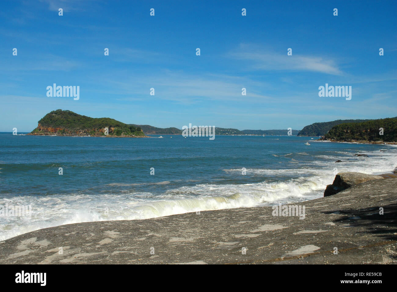 Lion Island, Broken Bay, New South Wales, Australia - Stock Image