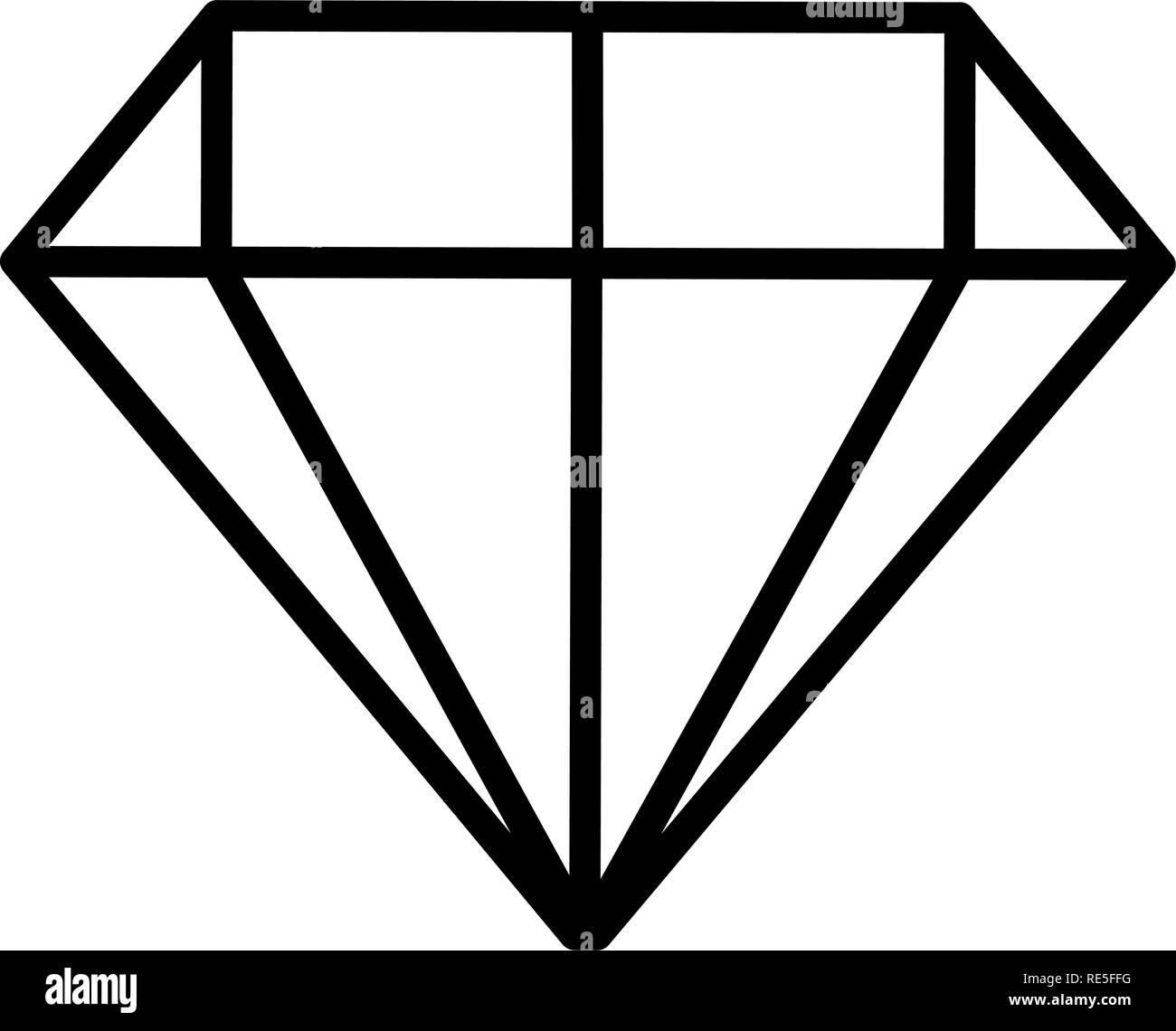 diamond luxury isolated icon vector illustration design - Stock Image