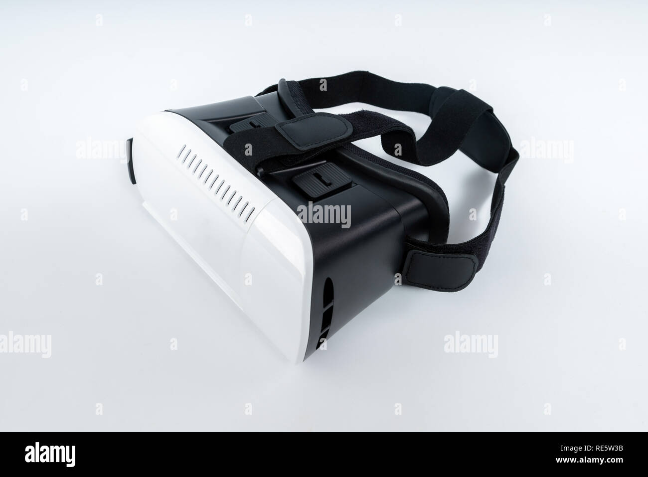 80d532fba7e6 Virtual reality VR goggles isolated on white background - Stock Image