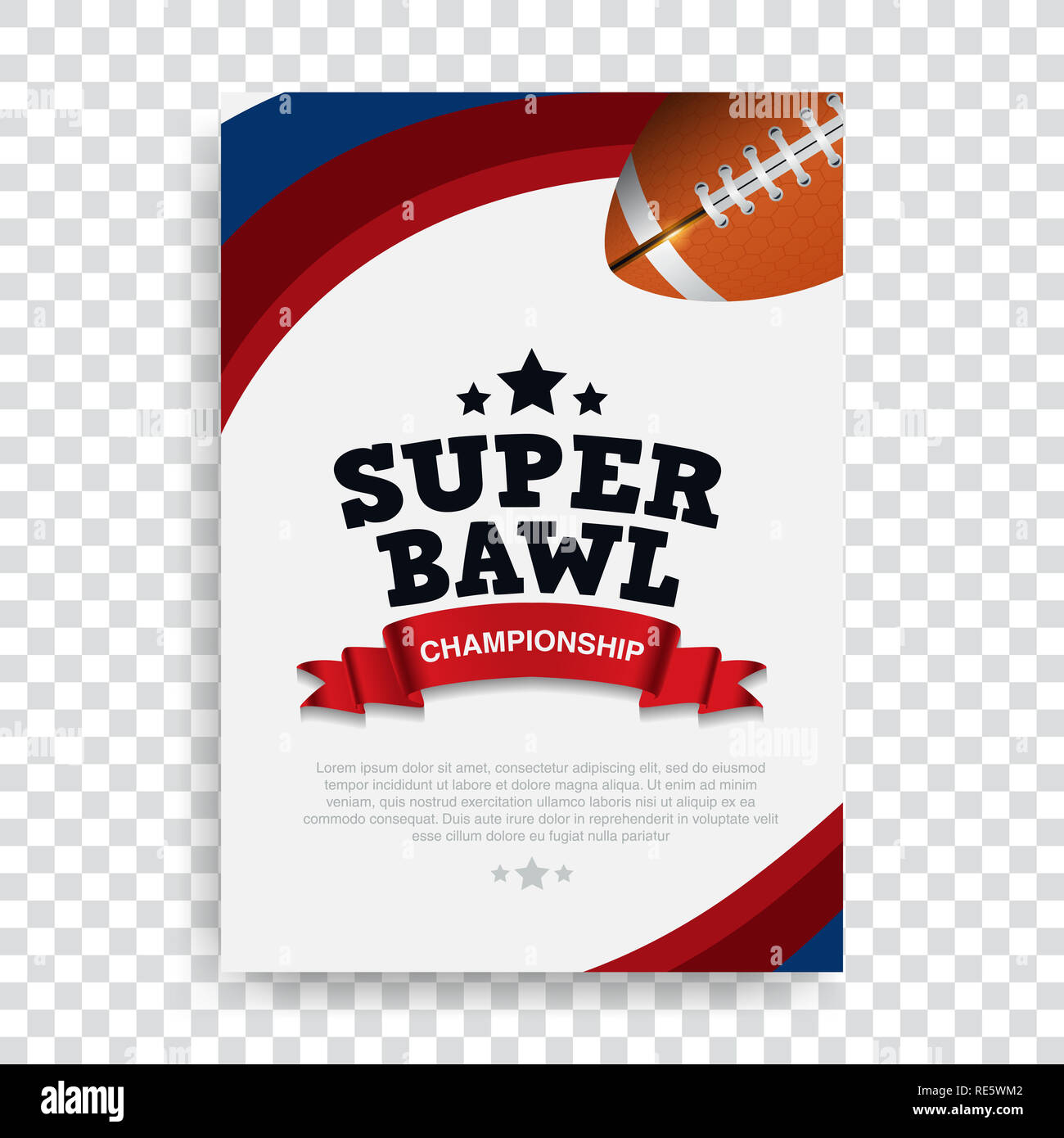 Poster American Football Banner And Brochure Template Vector Design Super Bowl Rugby Sport Stock Photo Alamy