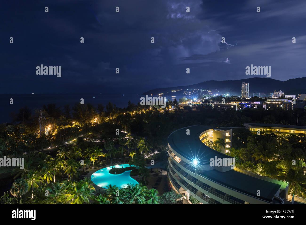 Tambon Karon hotel, Chang Wat Phuket, in Thailand - Stock Image