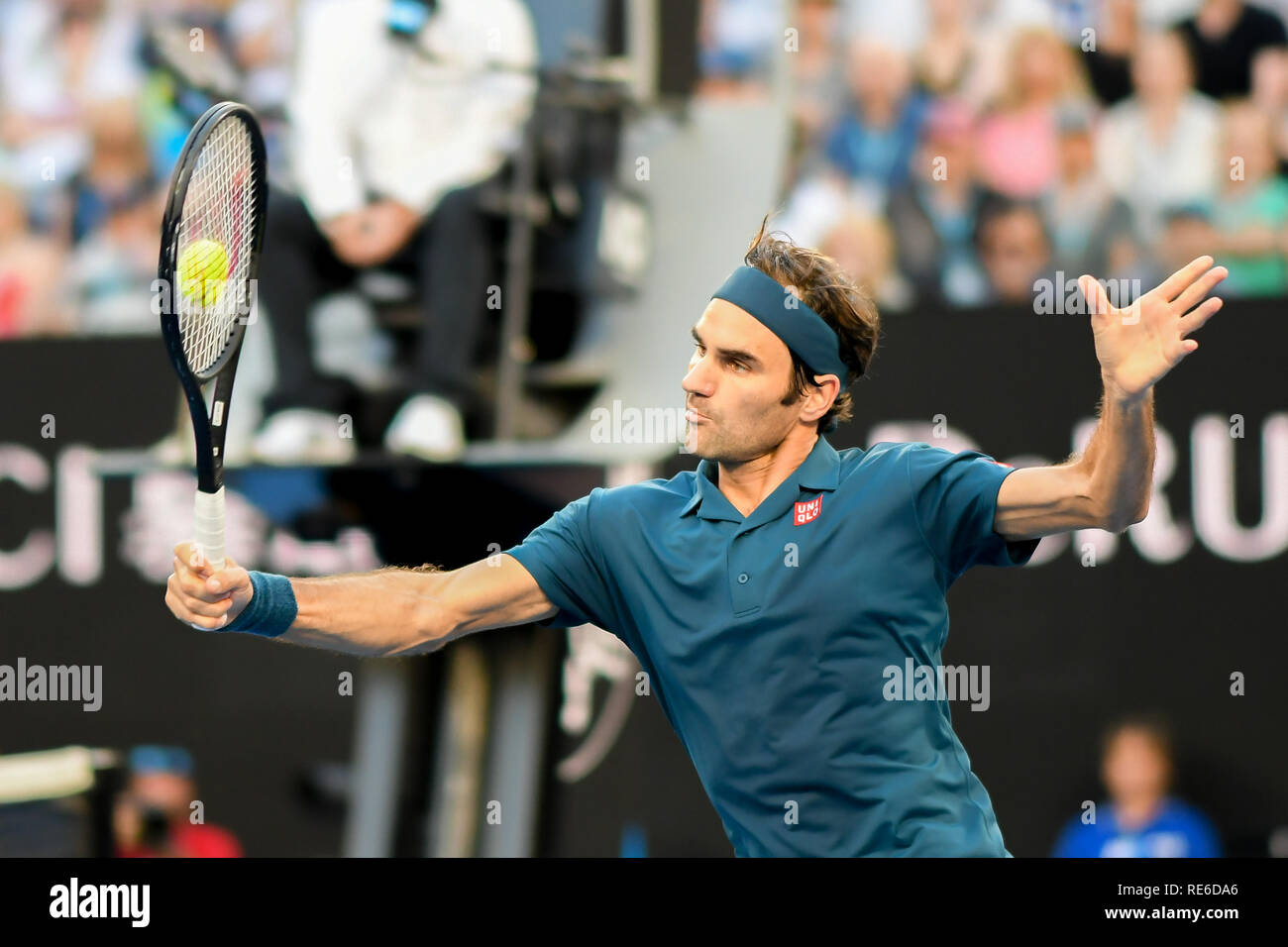 Melbourne, Australia  20th January 2019  3rd seed Roger