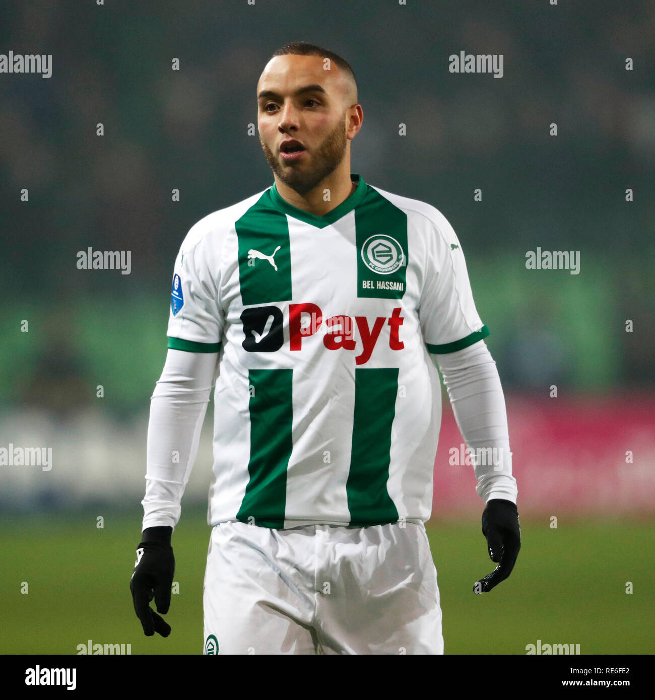 Iliass Bel Hassani.Groningen 19 01 2019 Euroborg Dutch Eredivisie Season