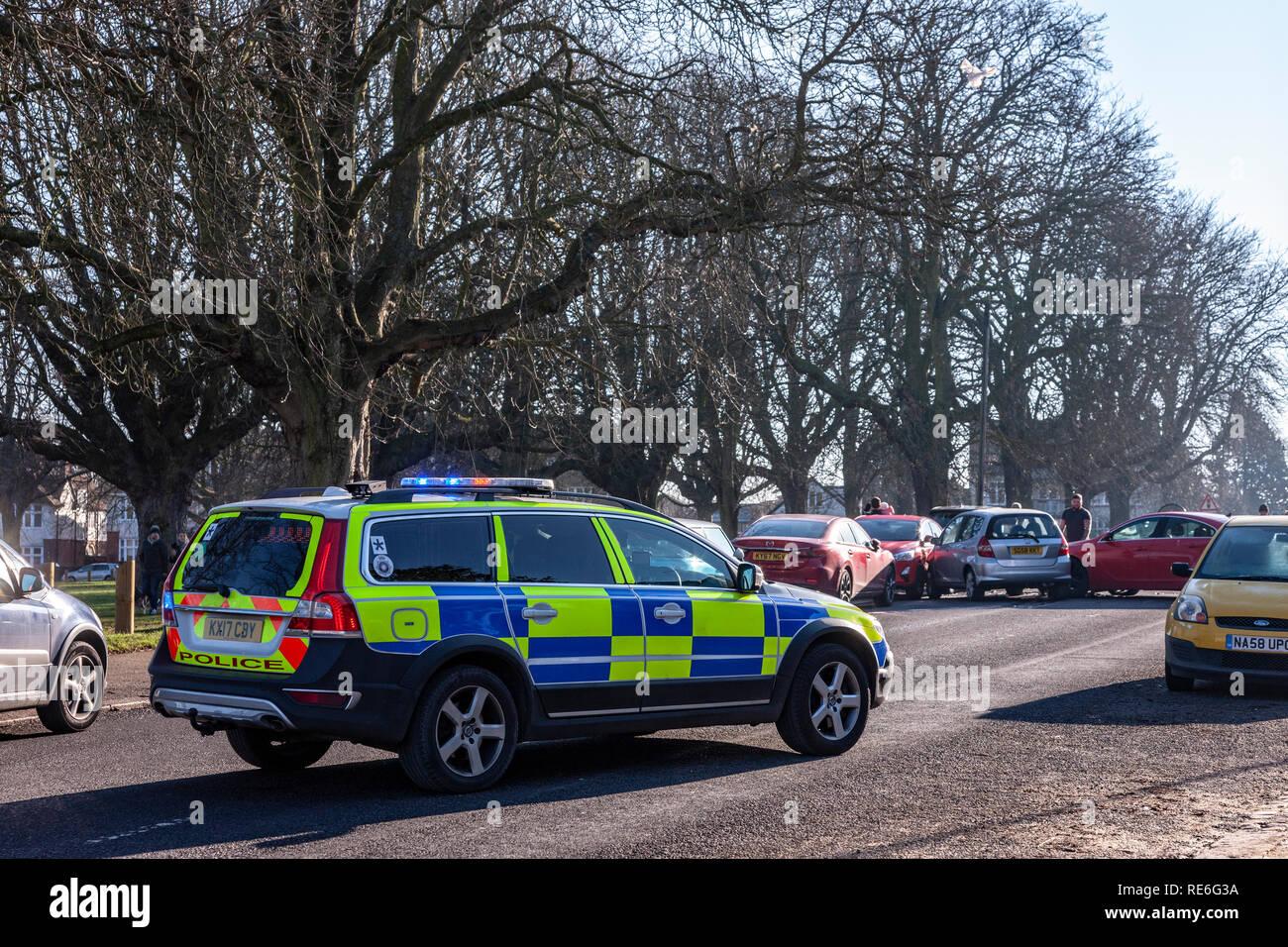Northampton, UK  , 20th January 2019  5 cars damaged in