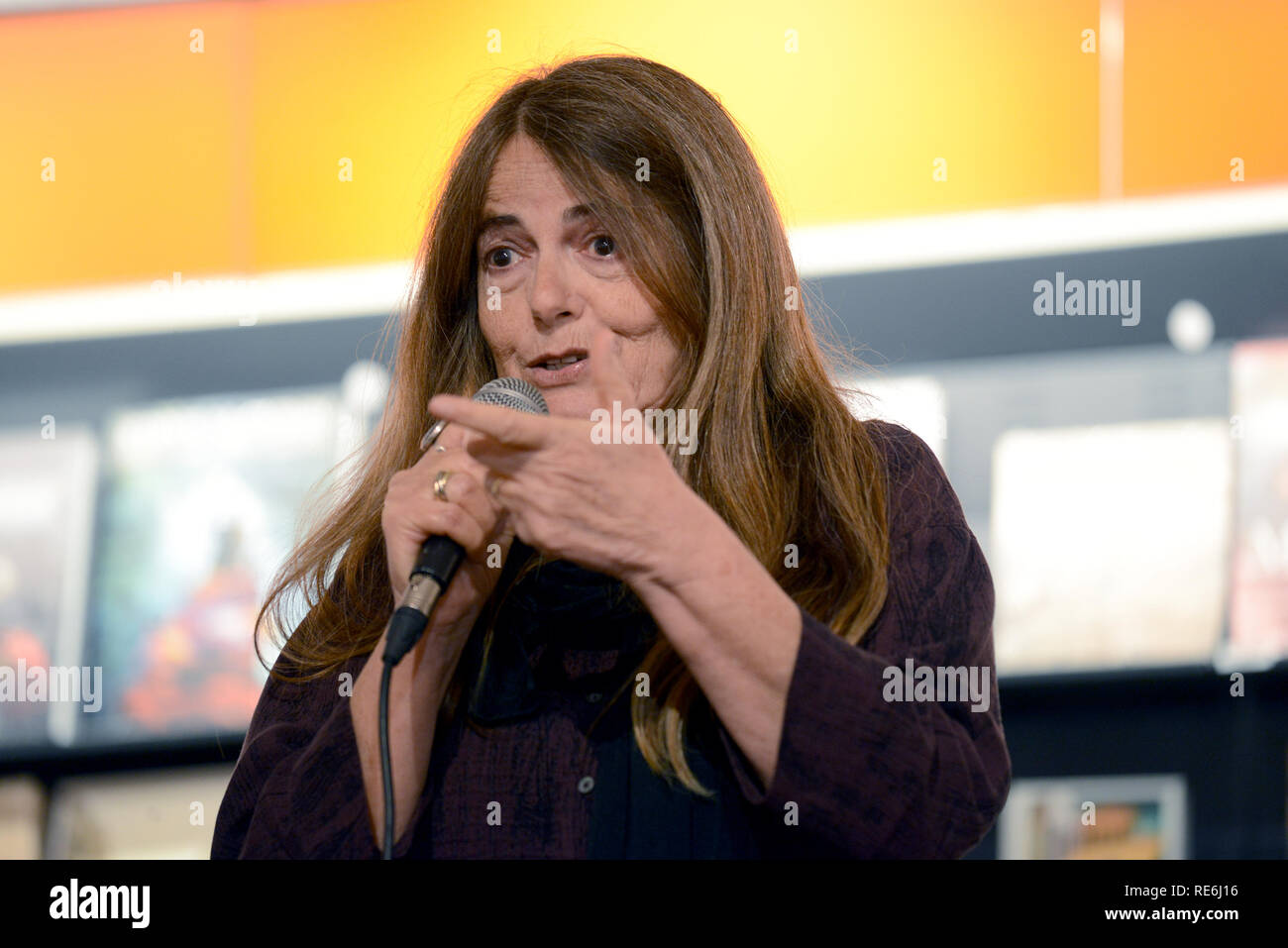 Rome, Italy. 19th Jan, 2019. ROME, at the Feltrinelli in Via Appia the singer Nada Malanima presents her latest album IS A DIFFICULT MOMENT, TREASURE Credit: Independent Photo Agency/Alamy Live News Stock Photo