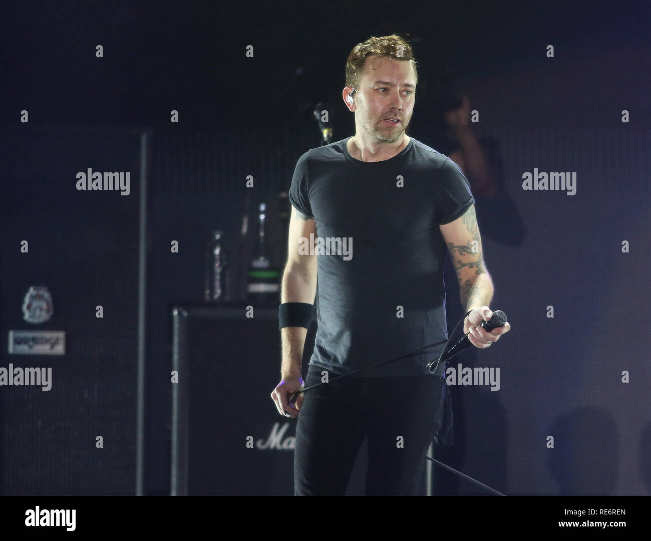 California, USA. 19th Jan, 2019. Rise Against and Tom Morello perform at iHeartRadio ALTer Ego '19 on January 19, 2019 at the Forum in Inglewood, California. Photography by Christopher Victorio/imageSPACE/MediaPunch Credit: MediaPunch Inc/Alamy Live News - Stock Image