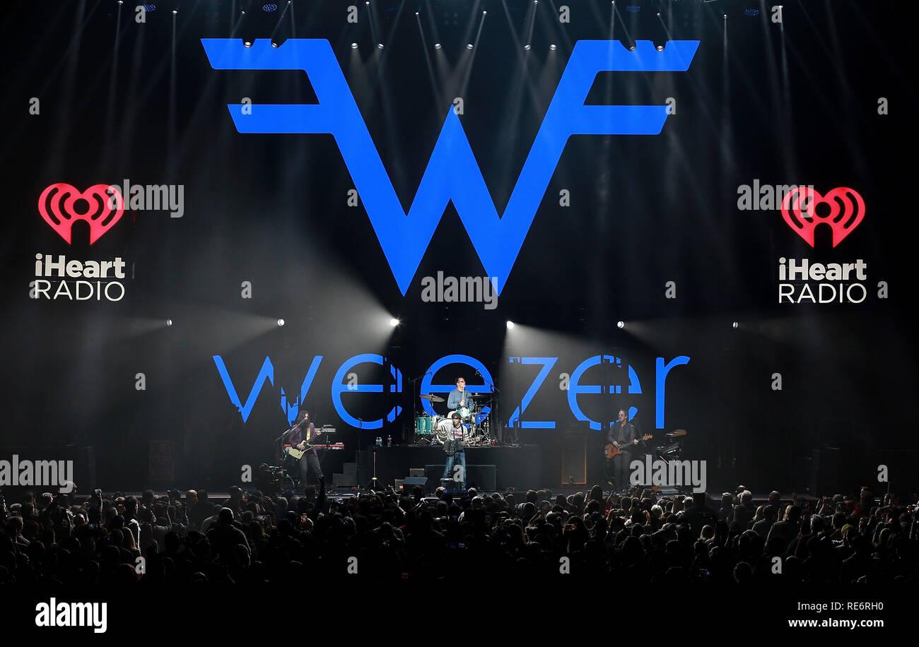 California, USA  19th Jan, 2019  Weezer performs at