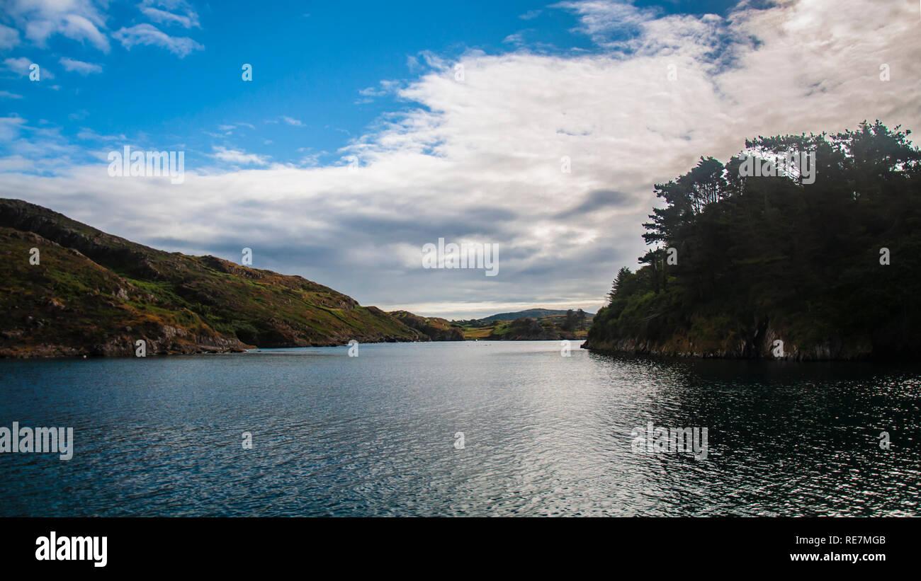 The Rapids, Bullock Island, Loch Hyne, Barloge, South West Cork, Ireland - Stock Image