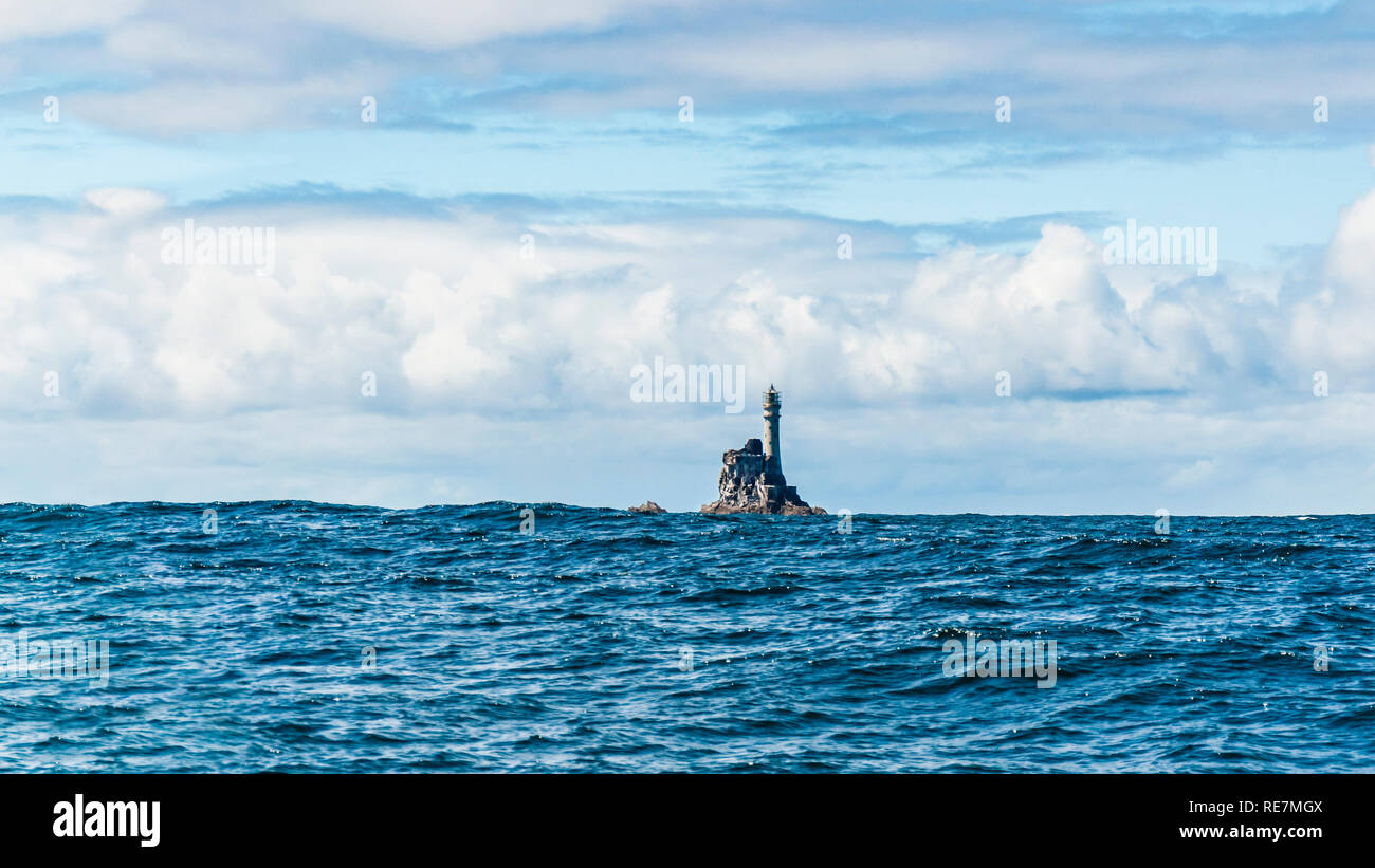 The Fastnet Rock Light Lighthouse off the Atlantic coast of County Cork, south west Ireland - Stock Image