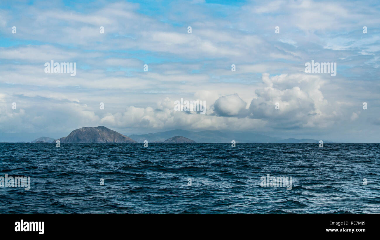 Distant land. Scariff Island, co. Kerry. - Stock Image