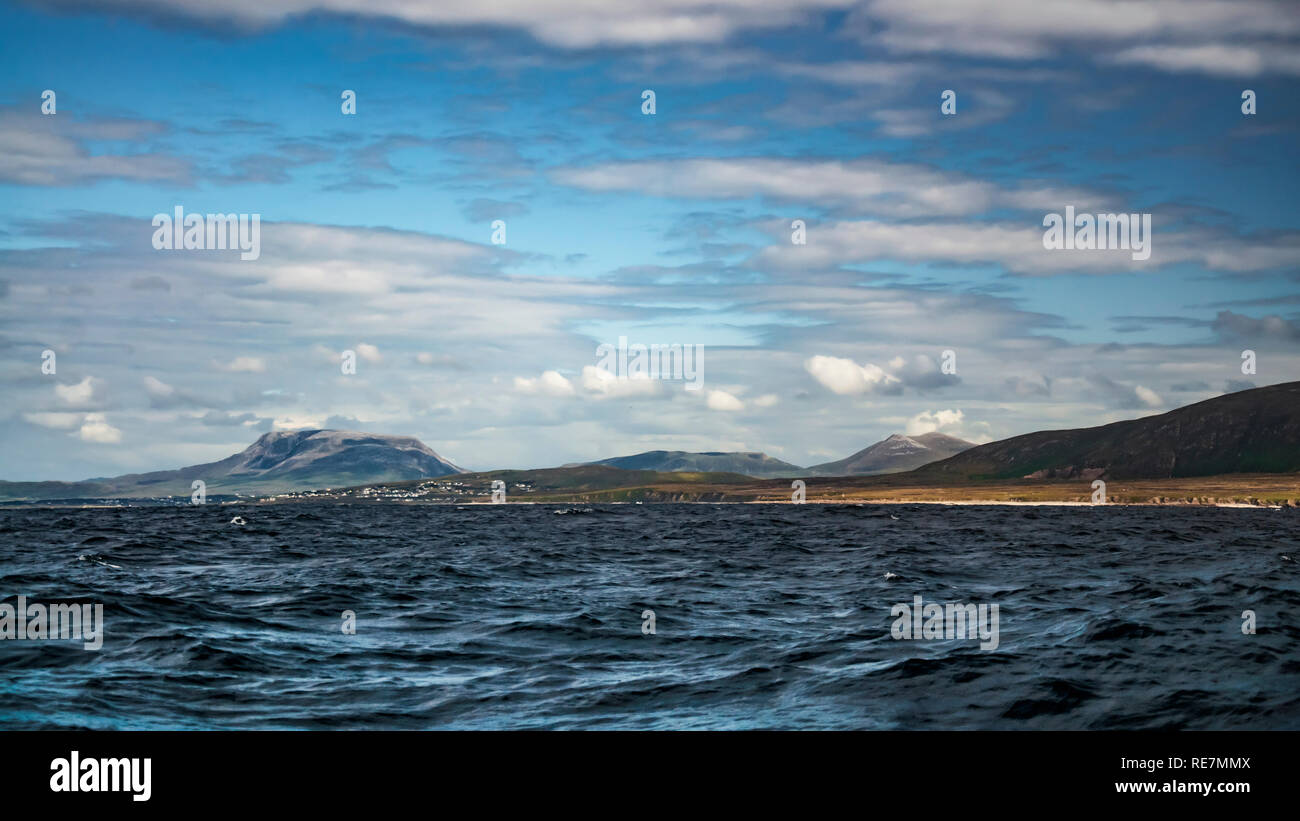 Distant Land. Meenlaragh, Errigal, Muckish. - Stock Image