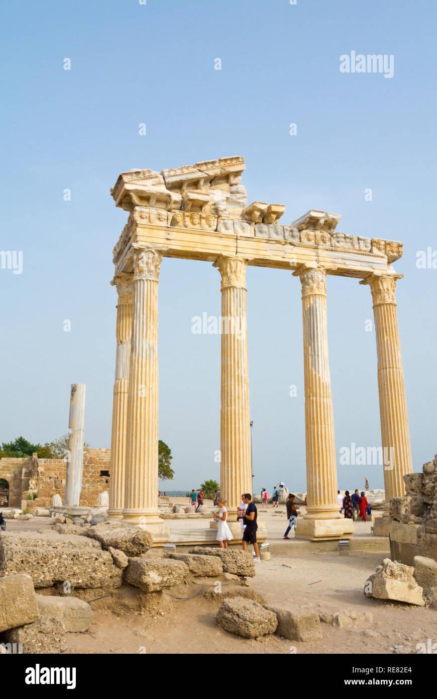 Temple of Apollo, Athena area, Side, Turkey, Eurasia - Stock Image