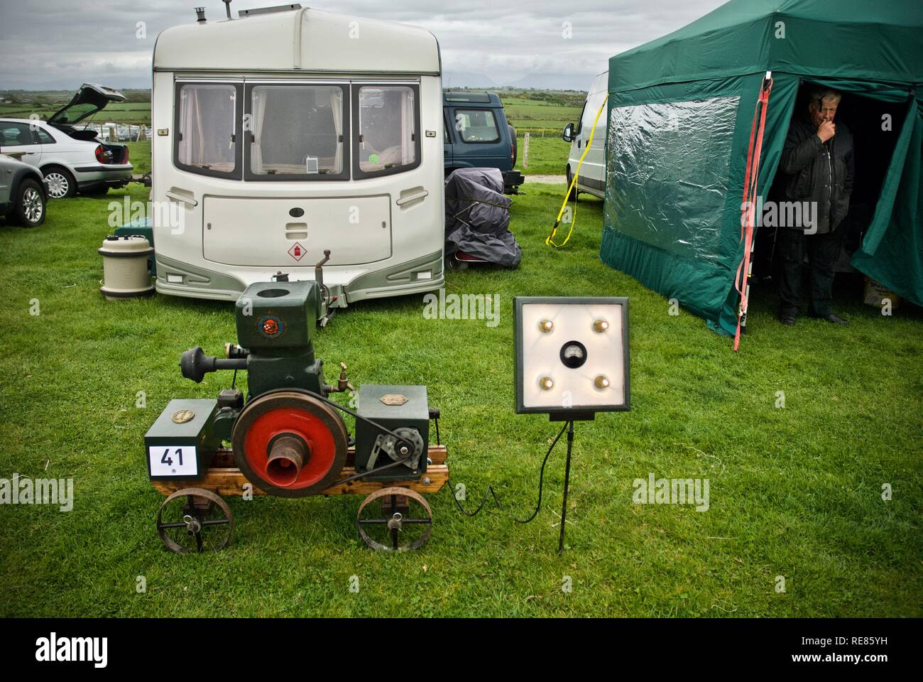 Ruston Hornsby generator at the Anglesey Vintage rally, Anglesey, North Wales, UK, May 2010 - Stock Image