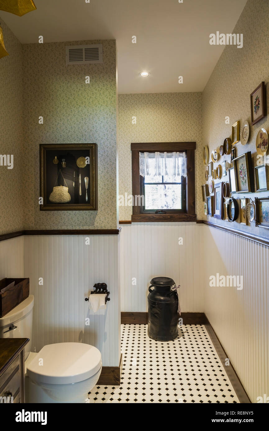 Guest Bathroom With Toilet Old Milk Collecting Pail And