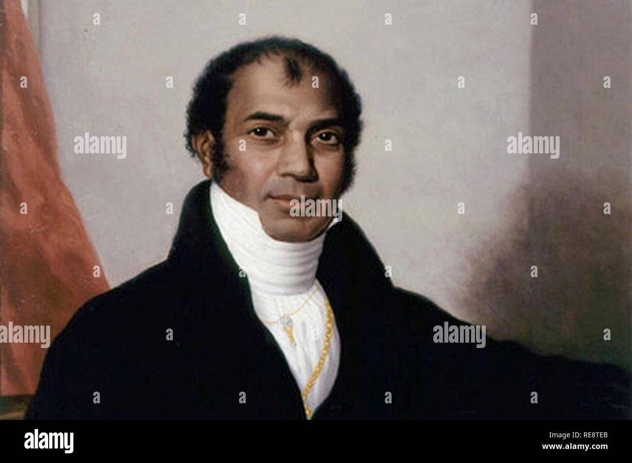 Sake Dean Mahomed (1759–1851)  Anglo-Indian Muslim traveller surgeon and entrepreneur who was one of the most notable early non-European immigrants to the Western World.[1] He introduced Indian cuisine and shampoo baths to Europe, where he offered therapeutic massage.[note 1] He was also the first Indian to publish a book in English.[2] - Stock Image
