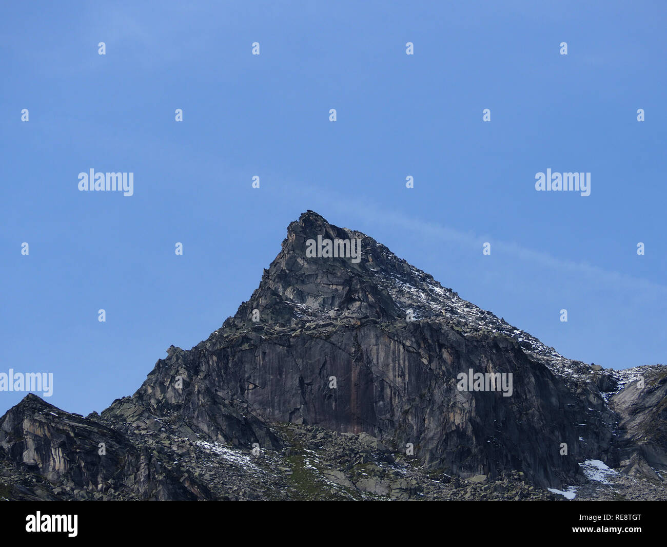 Mountain area blue sky - Stock Image
